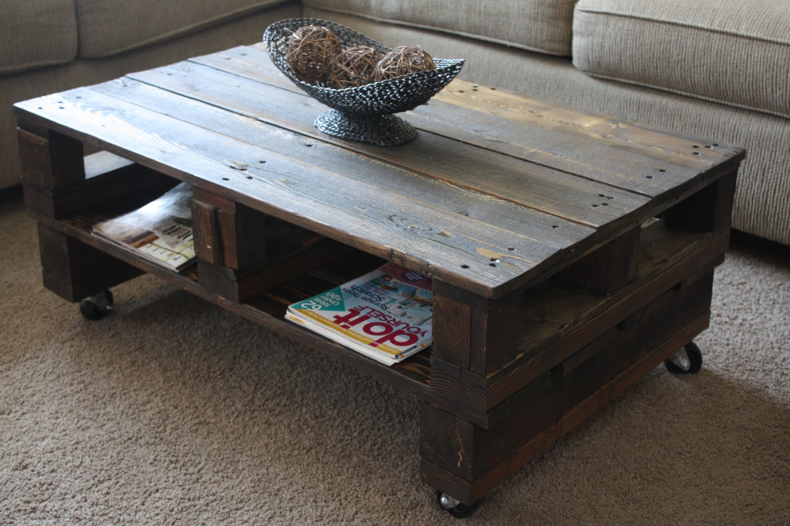 How To Build A Coffee Table Out Of Pallets