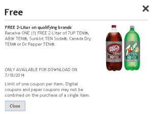 Free 2-Liter (Kroger)