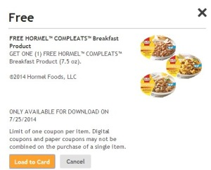 Free Hormel Compleats