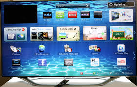 Smart Tv's have applications and connect to your internet service.