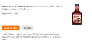 FREE Kraft BBQ Sauce